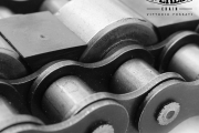 Triple chains with central carrier roller and safety plastic device